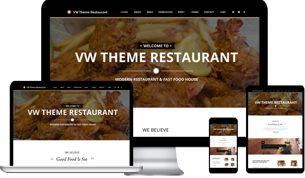 Buy Restaurant WordPress Theme