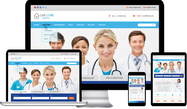 Hospital Responsive WordPress Theme