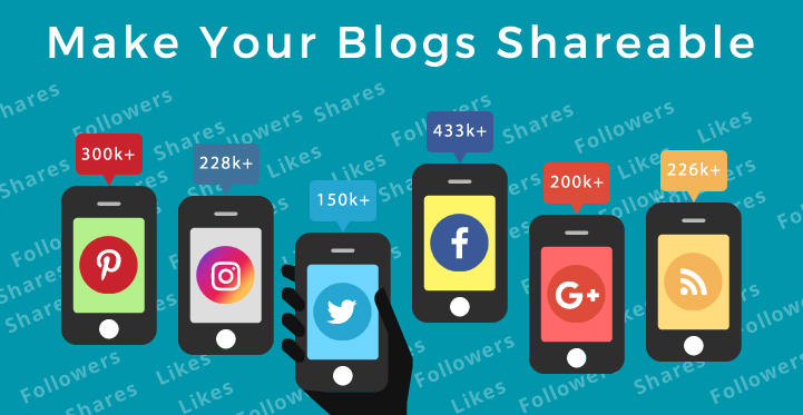 share the blogs on social media