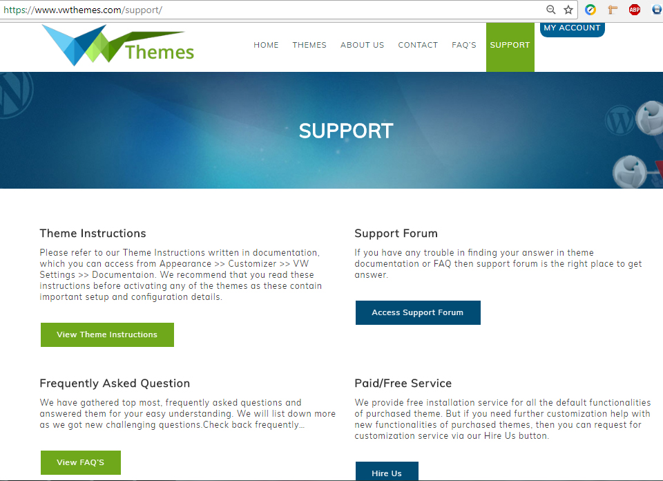 VWThemes Support