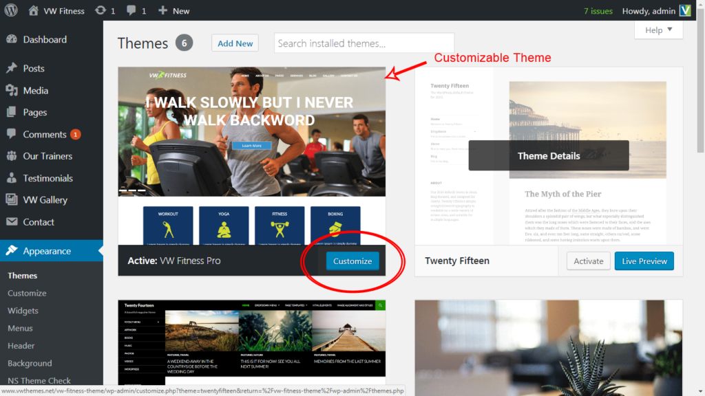 Customizable WordPress Theme - WP Themes - Best Professional ...