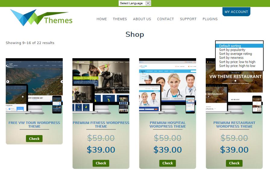 Online WordPress Shop Store