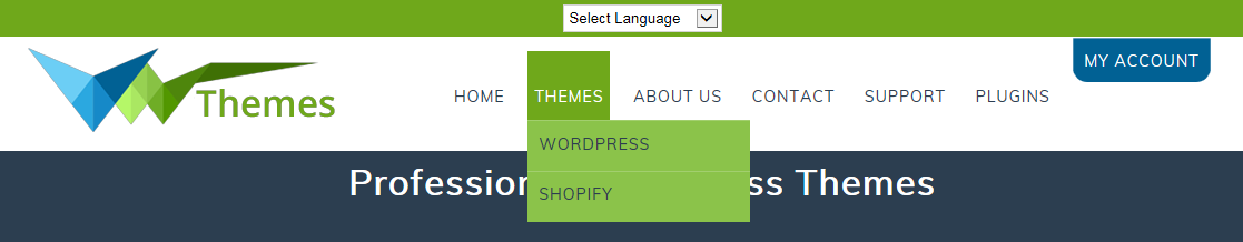 Wordpress thesis custom navigation