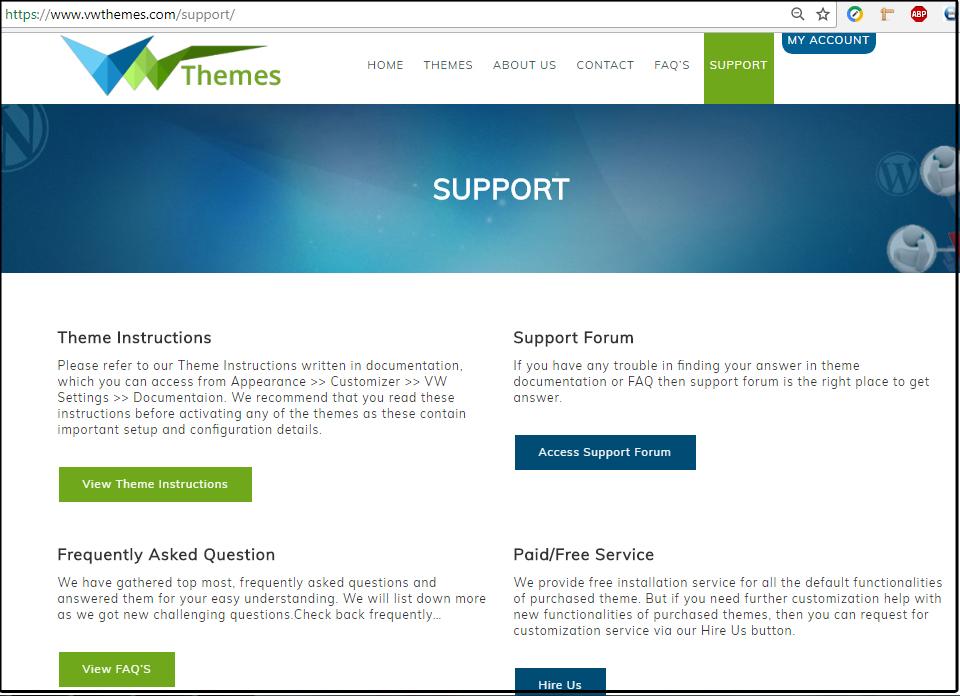 VWThemes Support