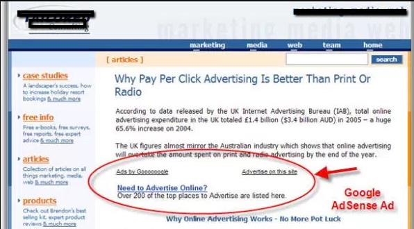Google AdSense ad