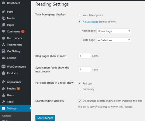 Reading Setting