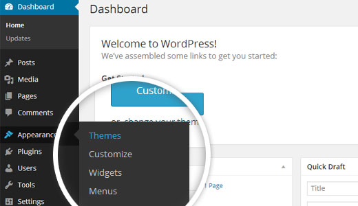 Upload WordPress Themes