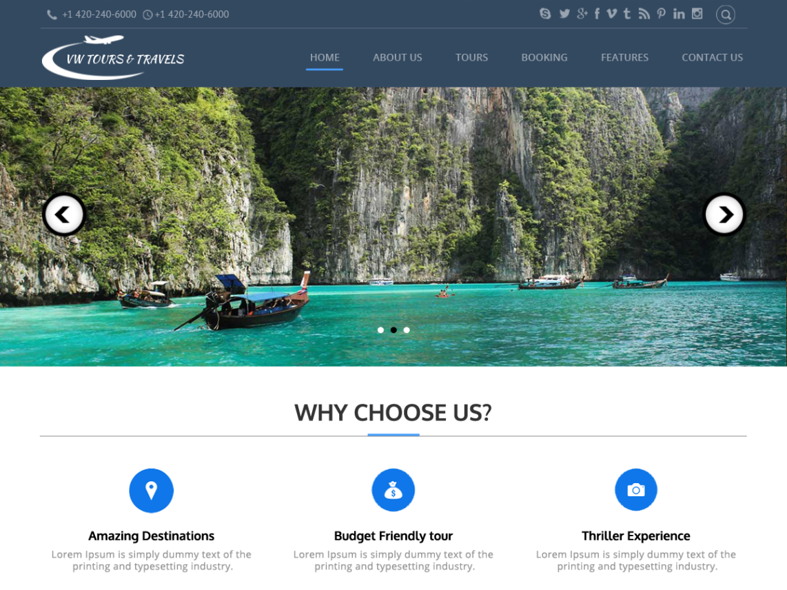Tours WordPress Theme