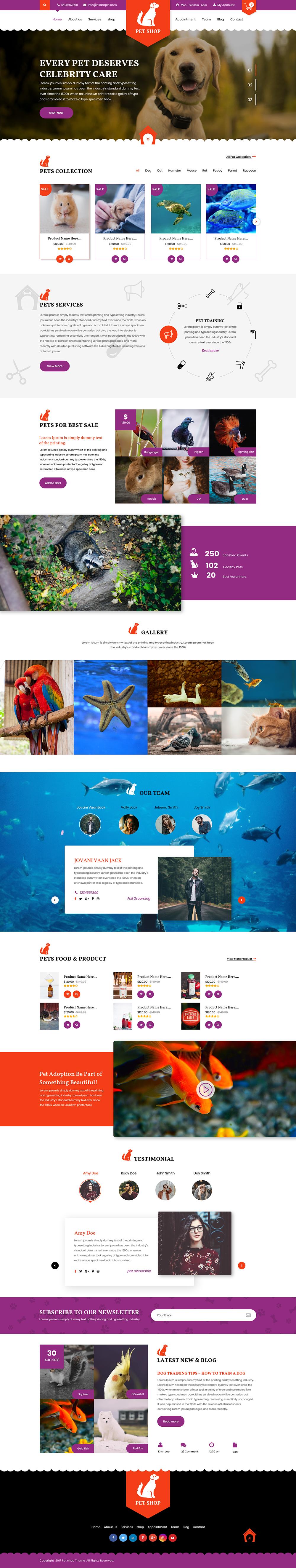 Premium Pet WordPress Theme