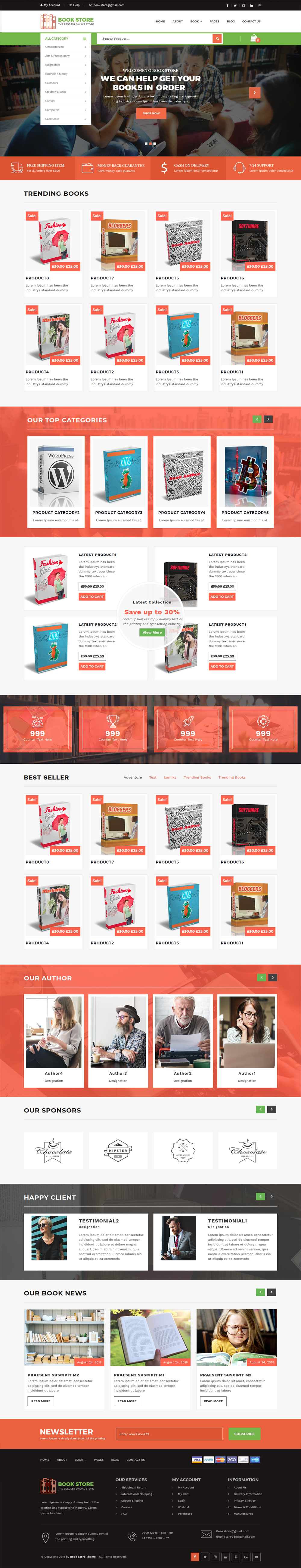 Bookstore WordPress Theme