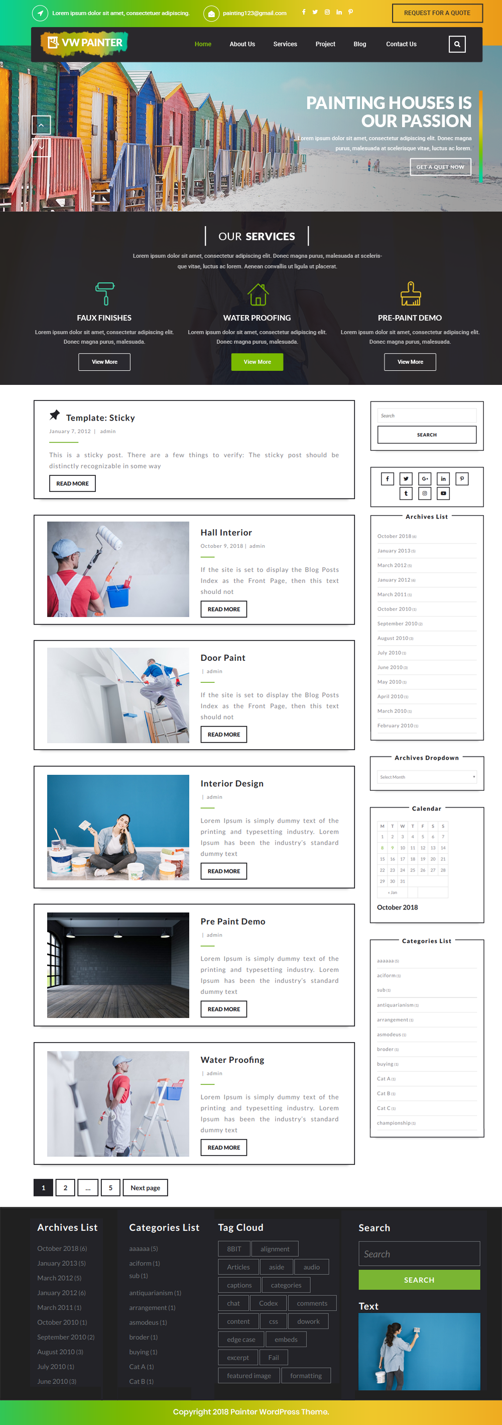 Free Painter WordPress Theme