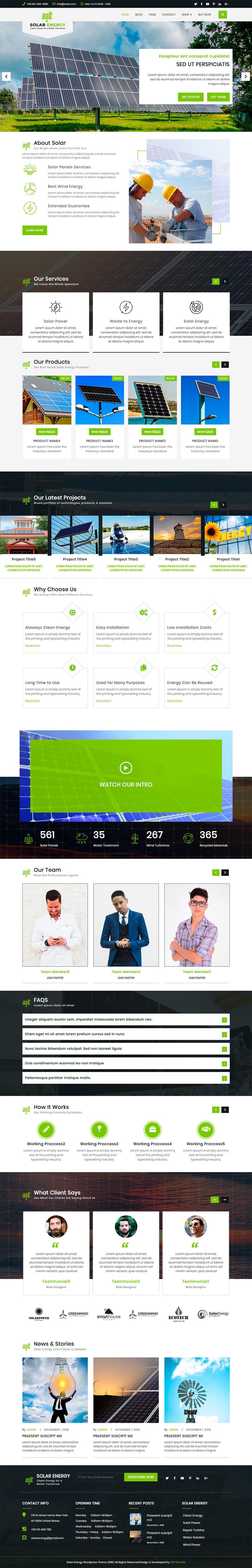 Solar Energy WordPress Theme