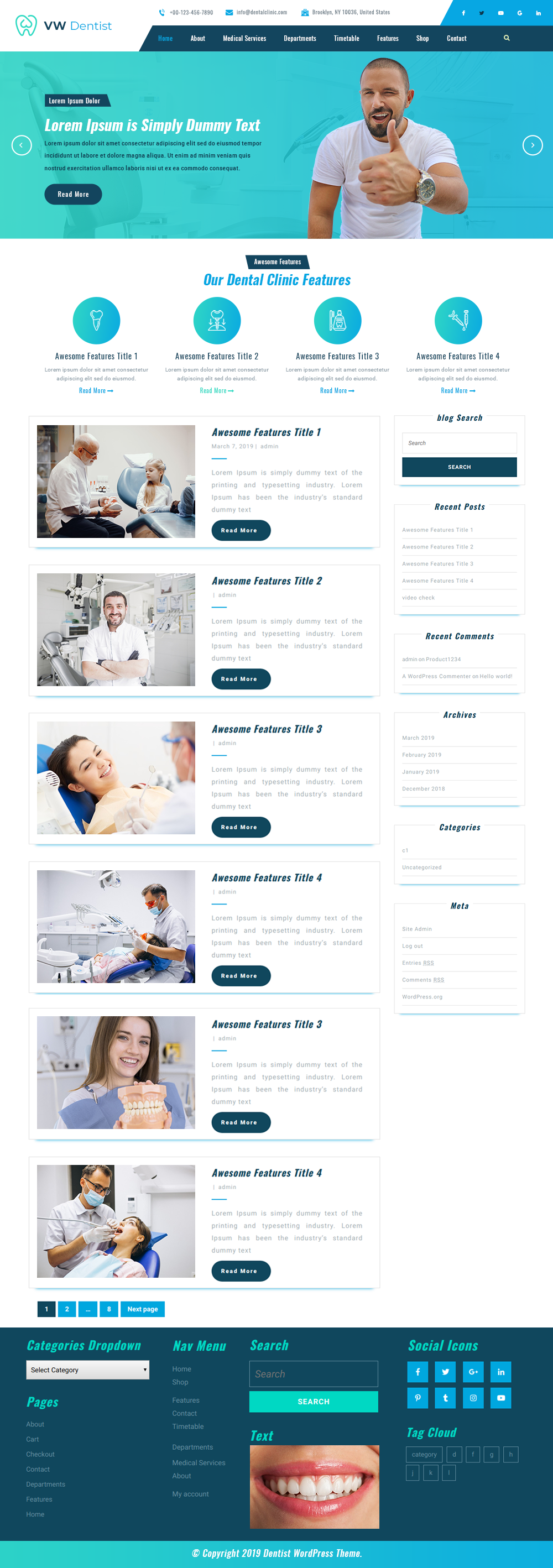 Free Dentist WordPress Theme