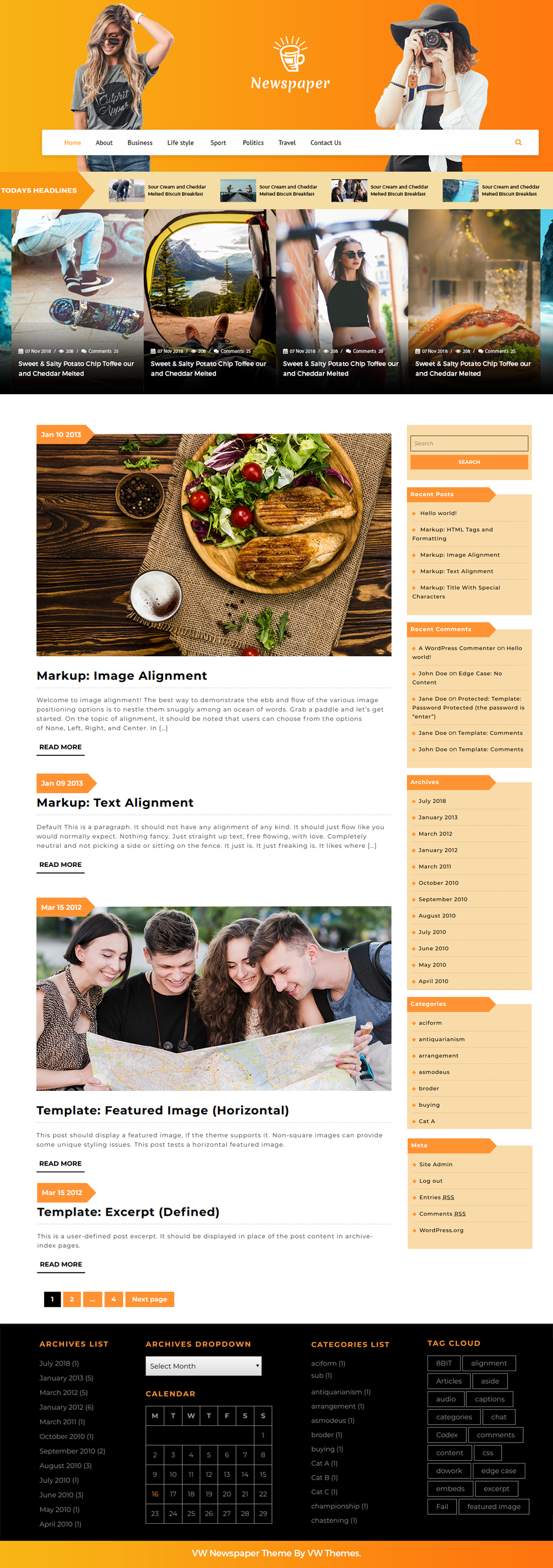 Free Newspaper WordPress Theme