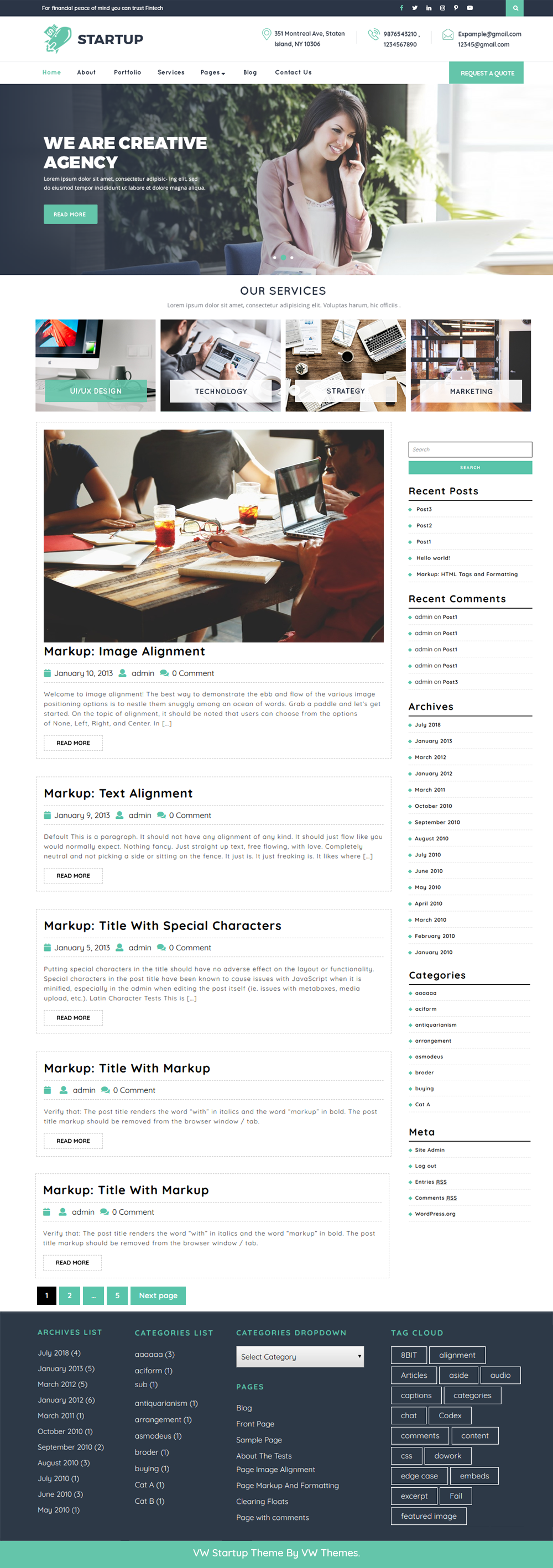 Free Startup WordPress Theme