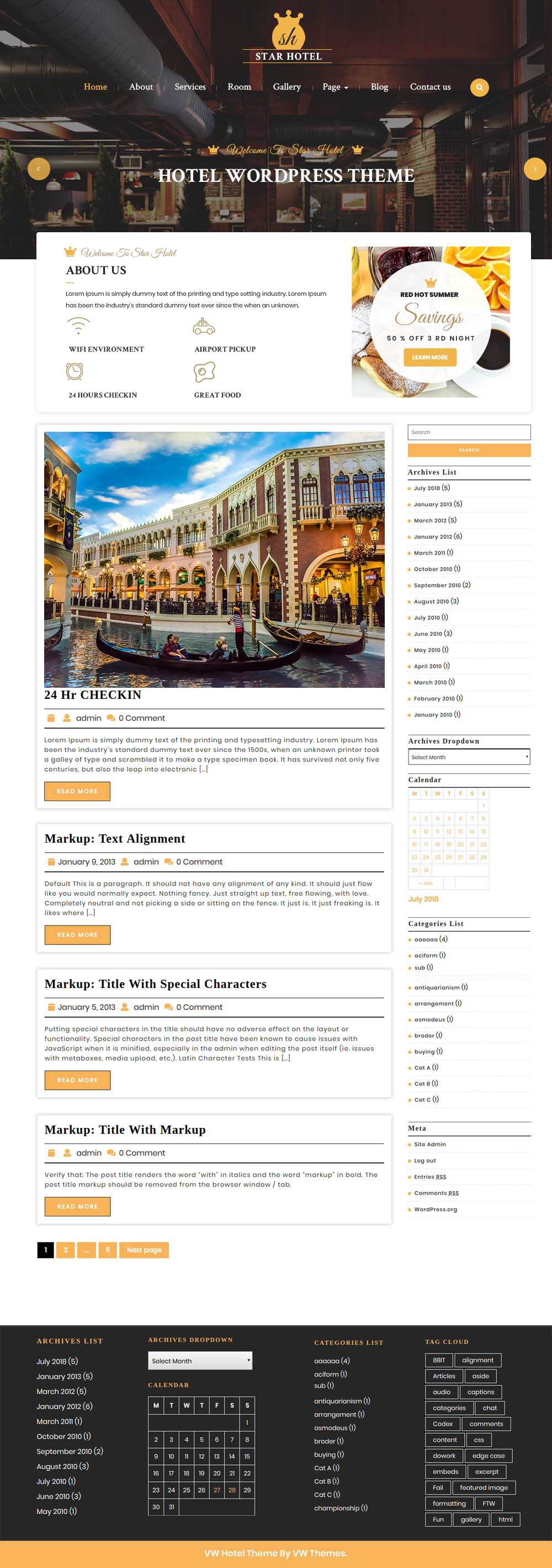 Free WordPress Hotel Theme