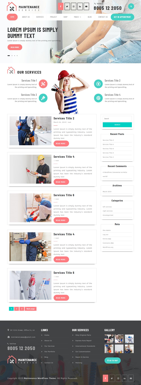 Free WordPress Maintenance Service