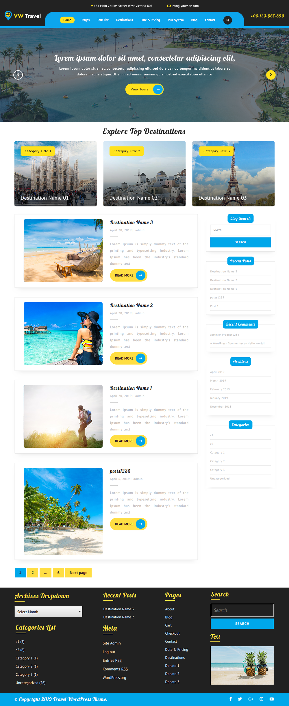 Free WordPress Travel Theme