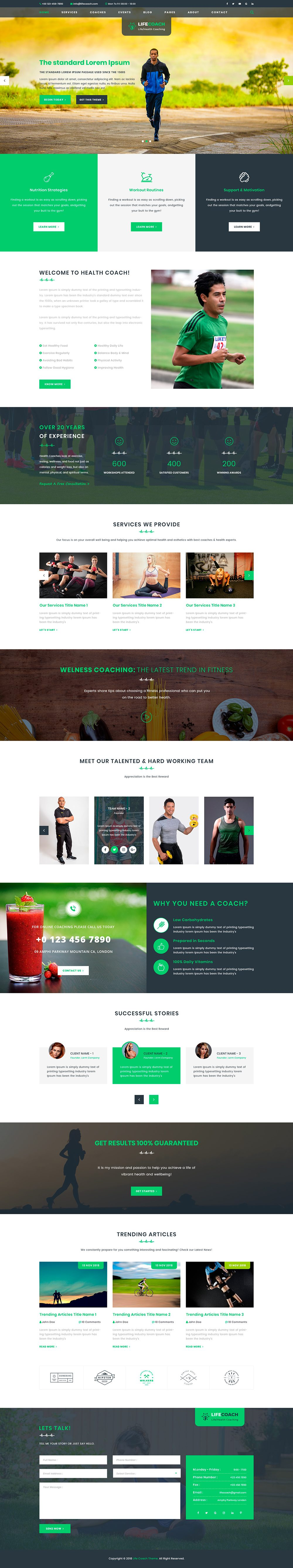 Health Coaching WordPress Theme
