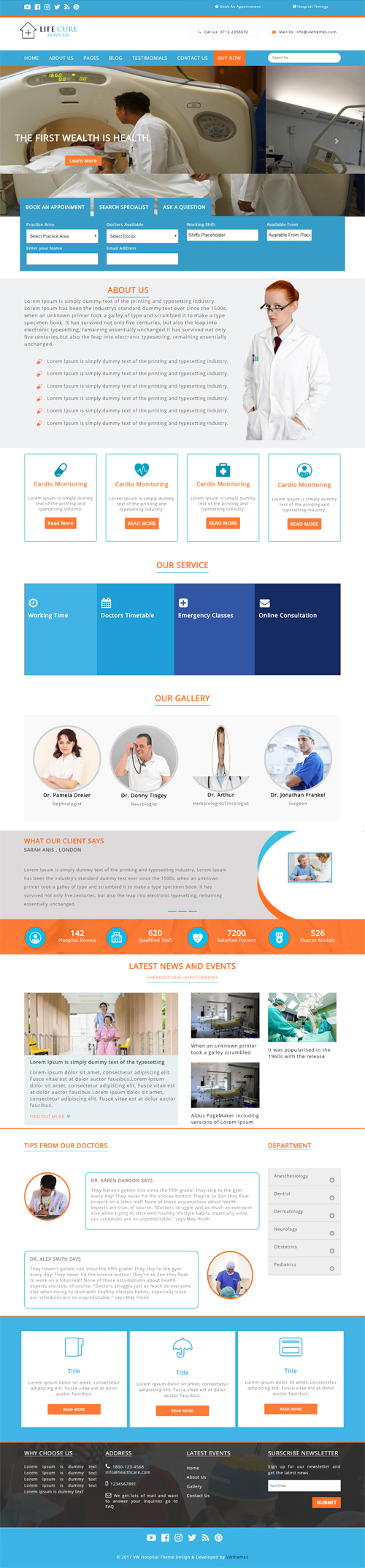 Hospital WordPress Theme