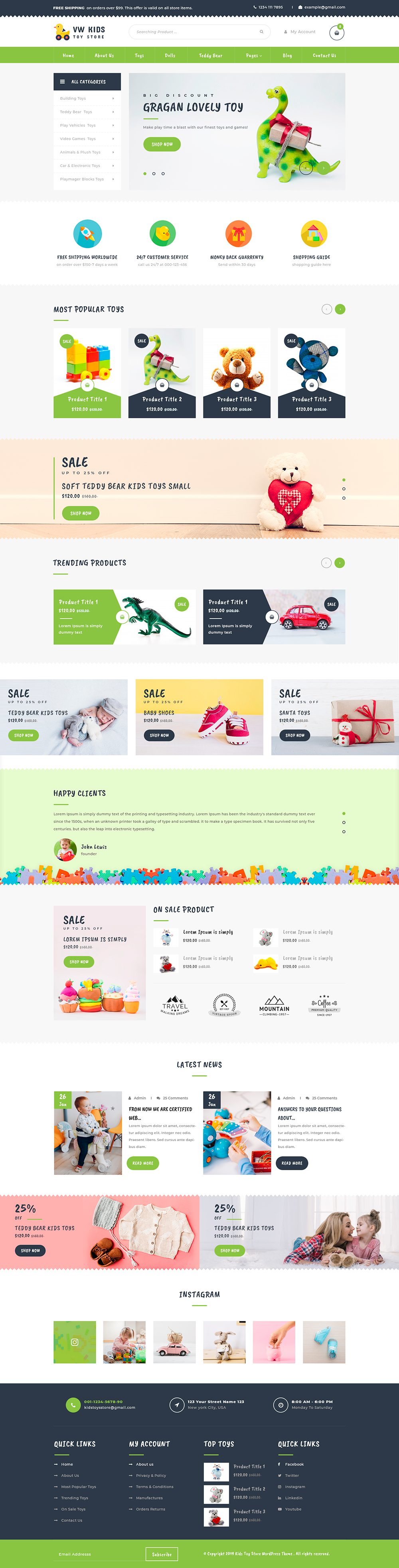 Kids WordPress Theme