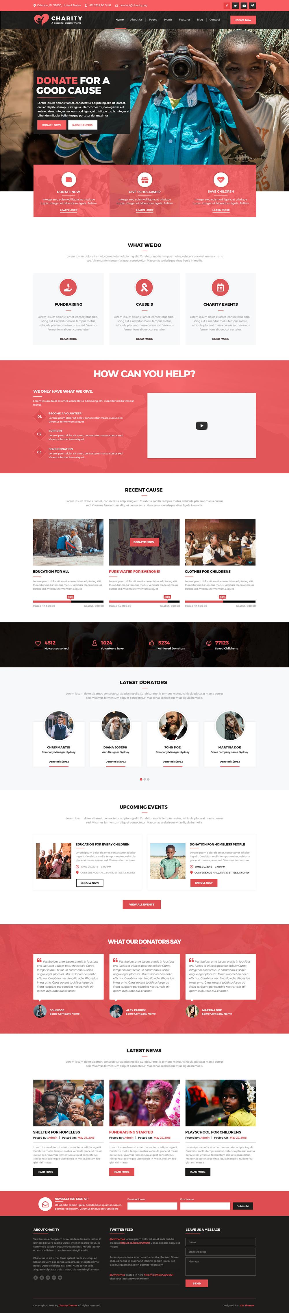 Premium Charity WordPress Theme
