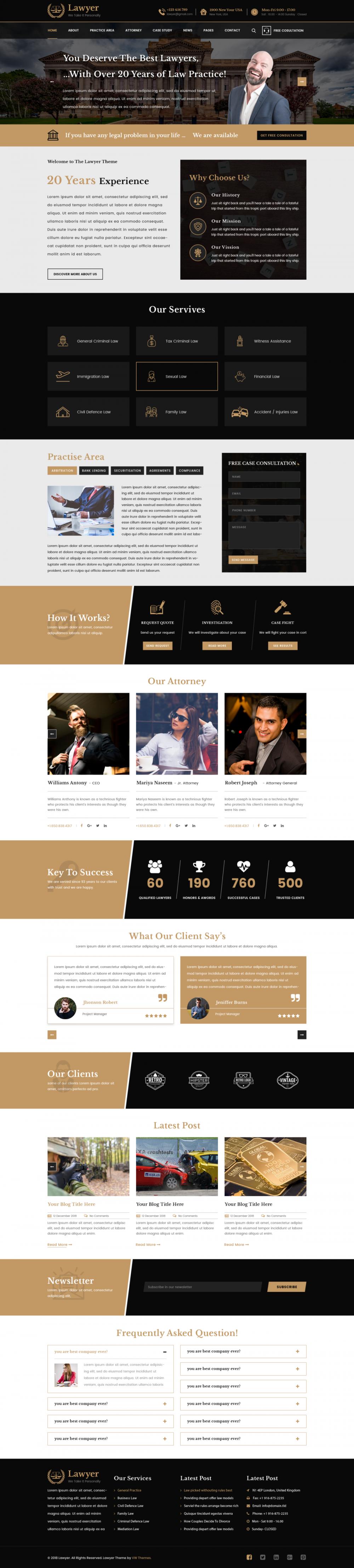 Premium Lawyer WordPress Theme