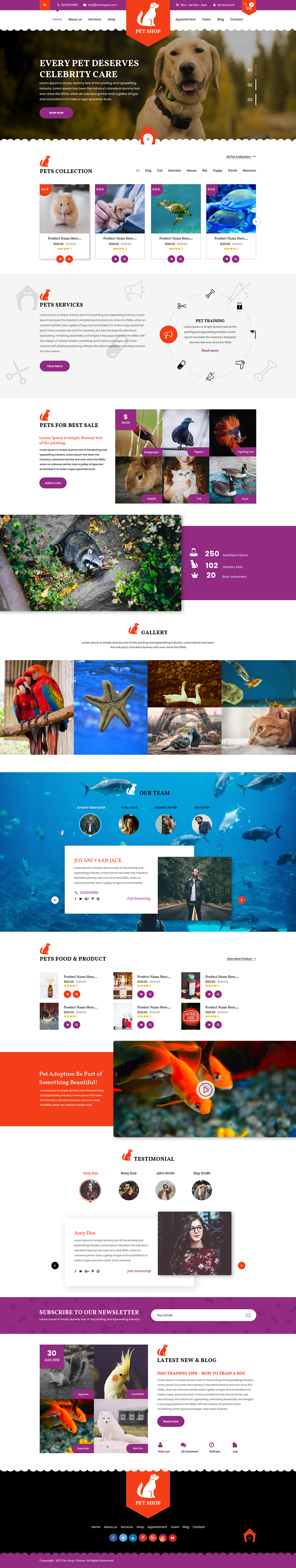 Premium Pet WordPress Theme