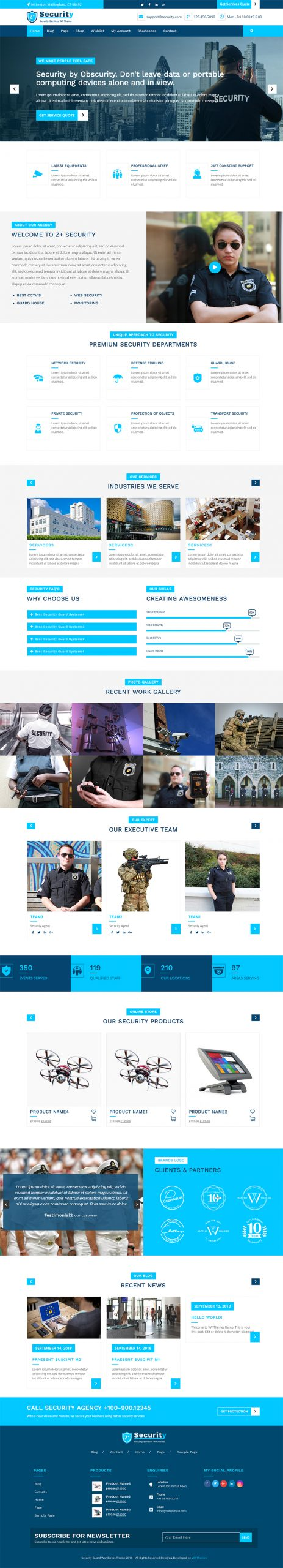 Security Guard WordPress Theme