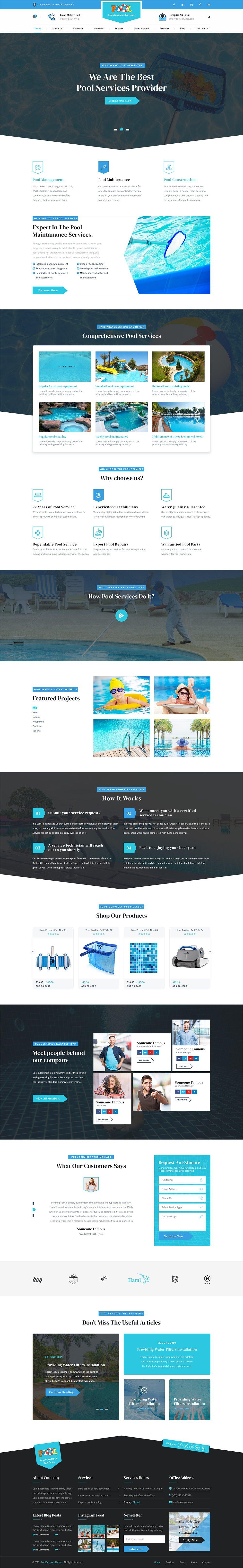 Swimming Pool WordPress Theme