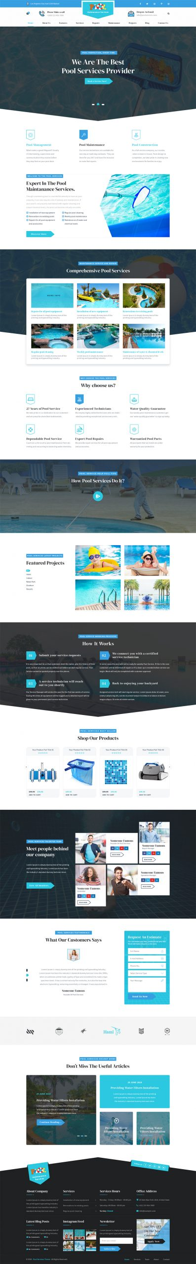 Swimming Pool WordPress Theme