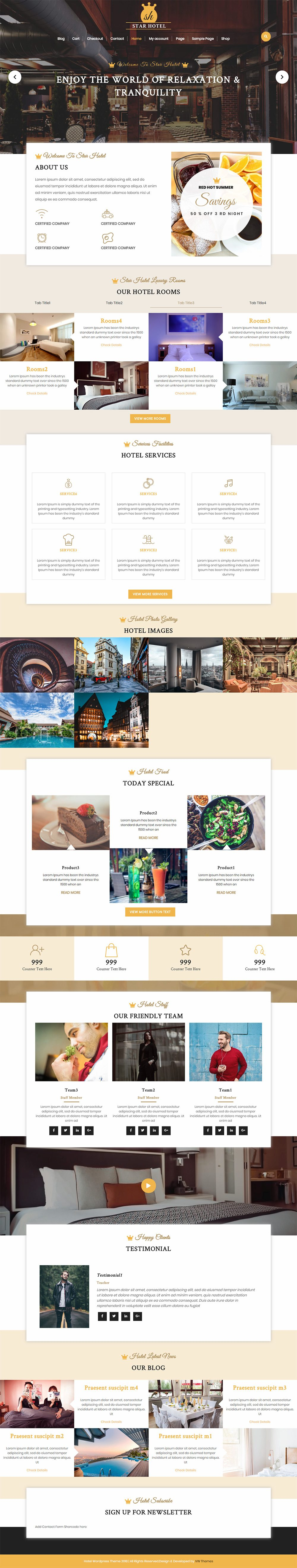 WordPress Hotel Theme