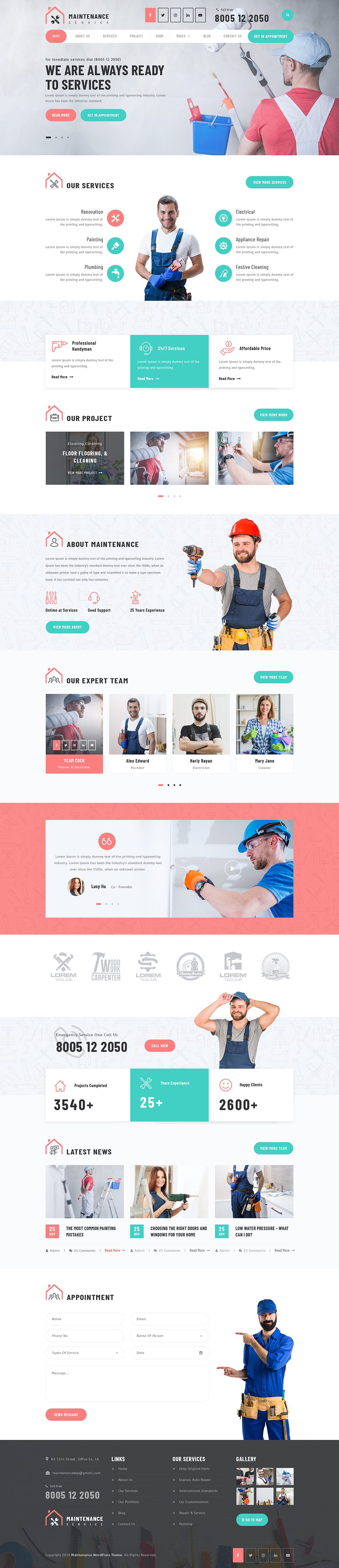 WordPress Maintenance Service Theme