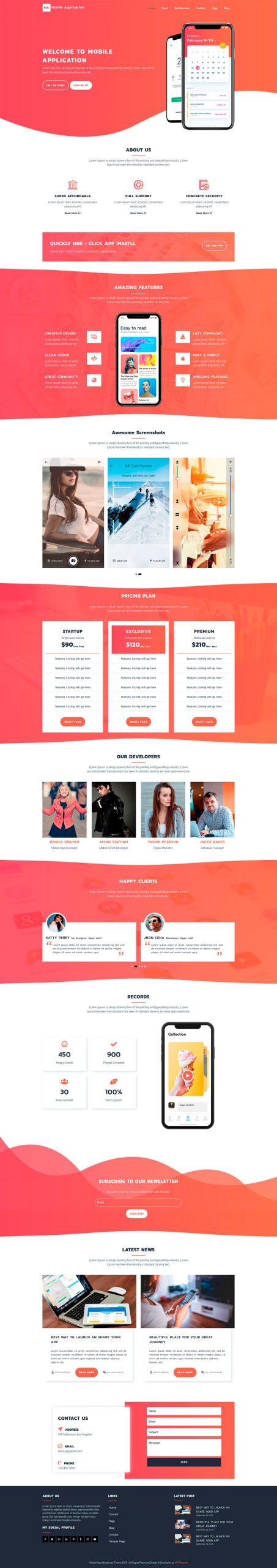 WordPress Mobile App Theme
