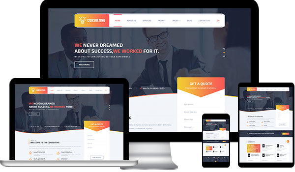 WordPress Website Themes For Consultant