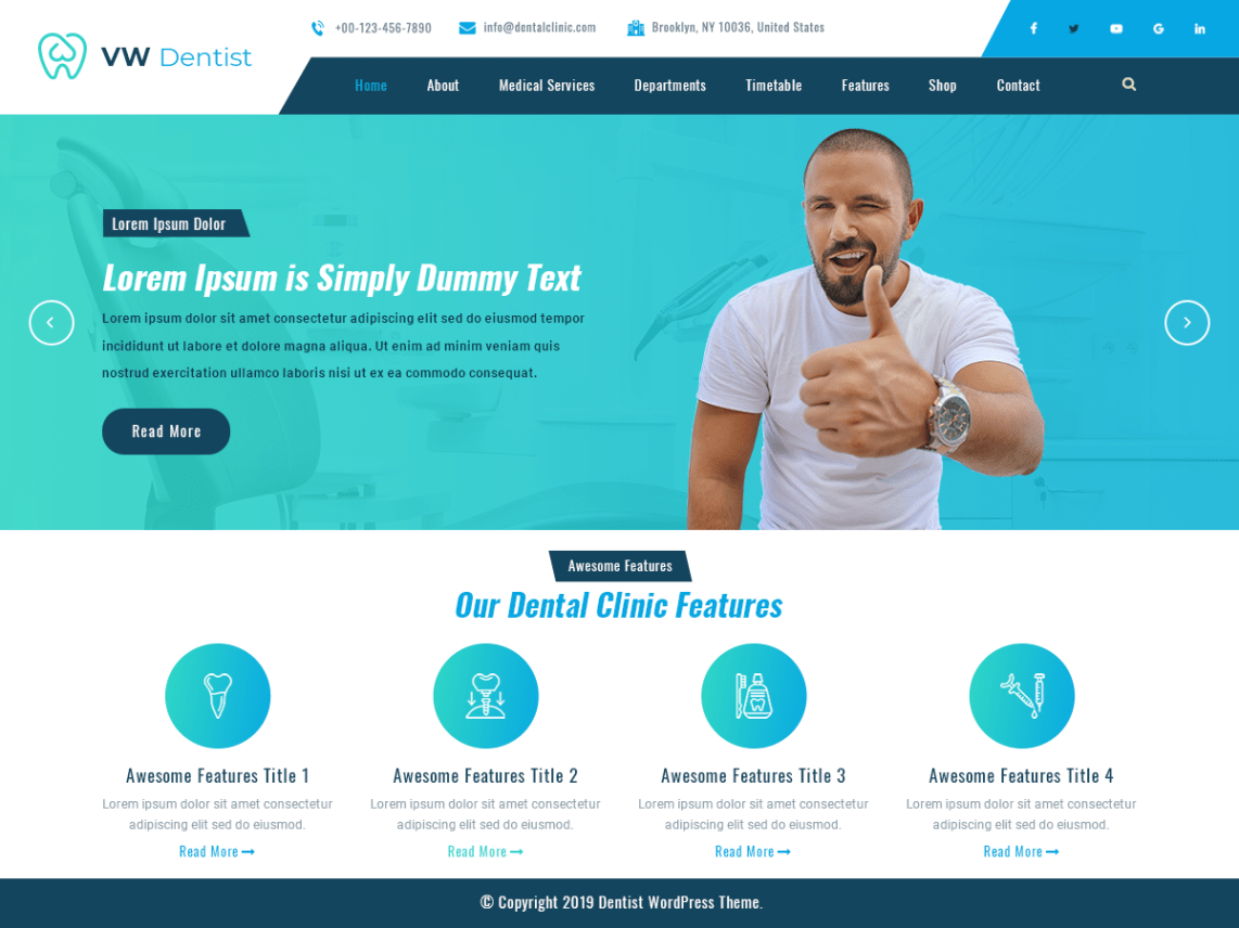 VW Dentist Pro WordPress Website Themes