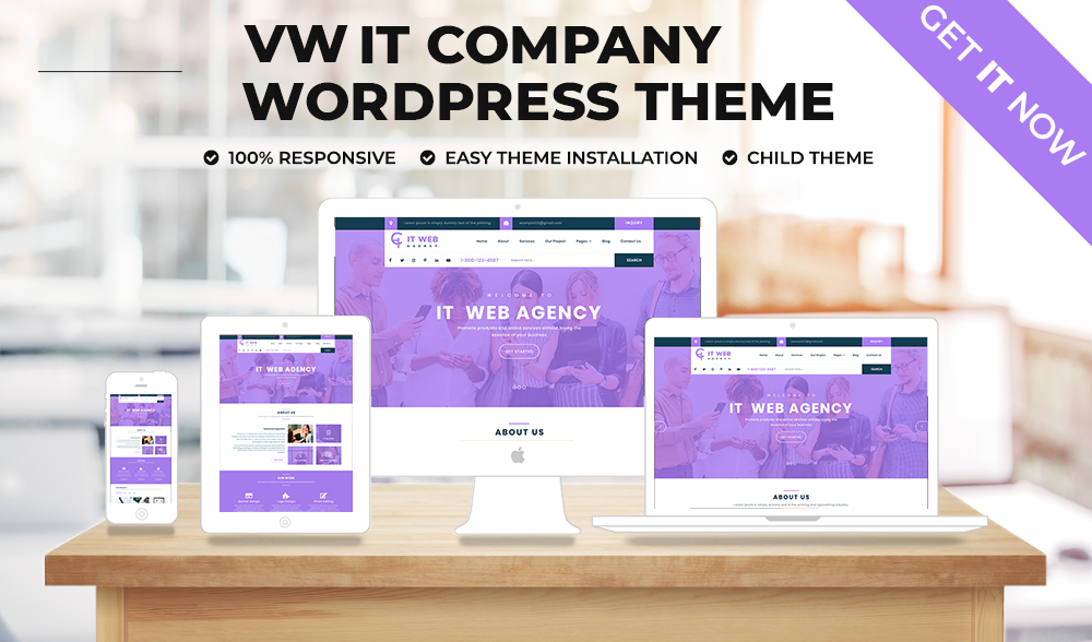 VW Best IT Company WordPress Theme
