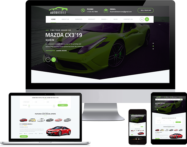 Best Automotive WordPress Theme 2020