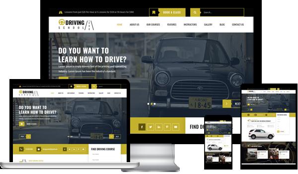 Best Driving School WordPress Theme 2020
