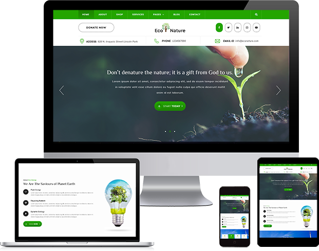 Best Eco Nature WordPress Theme 2020