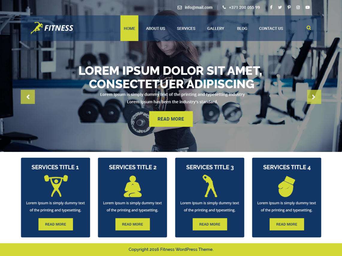 VW Fitness Pro WordPress Website Themes