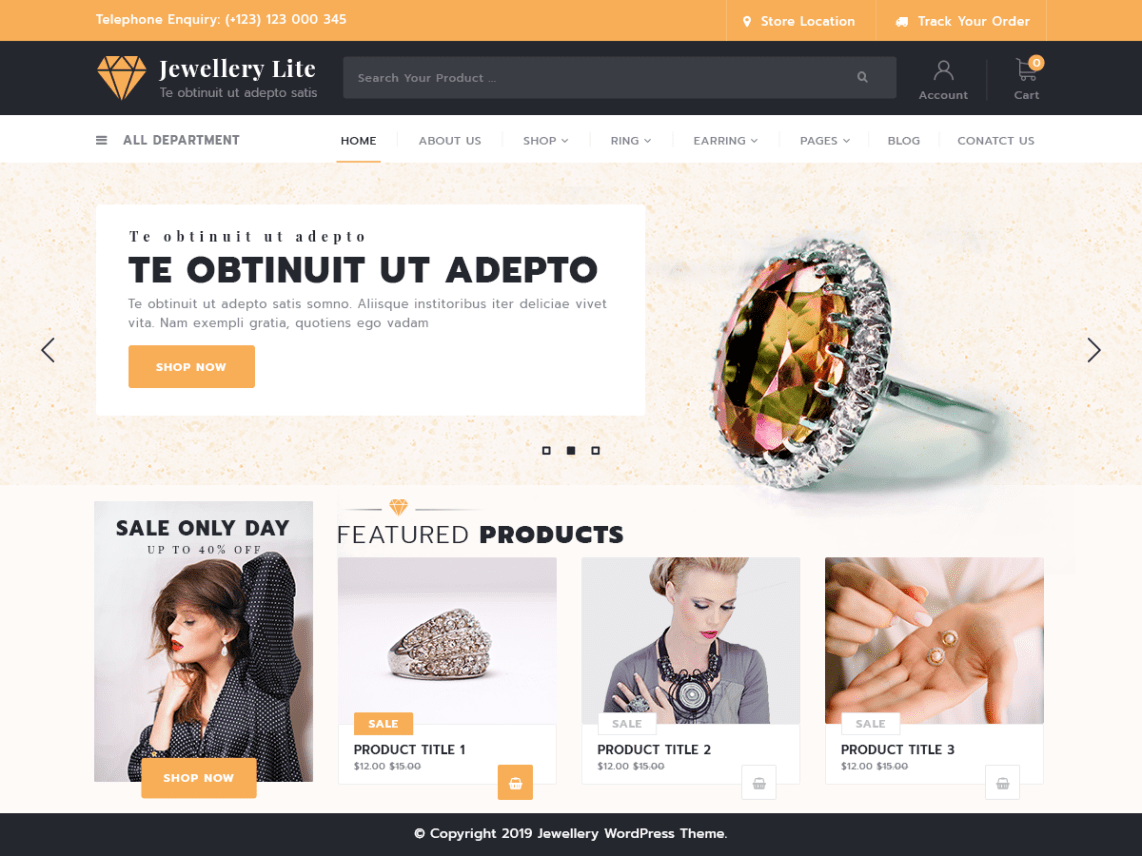 Top 20+ Ecommerce WordPress Theme For Jewellery