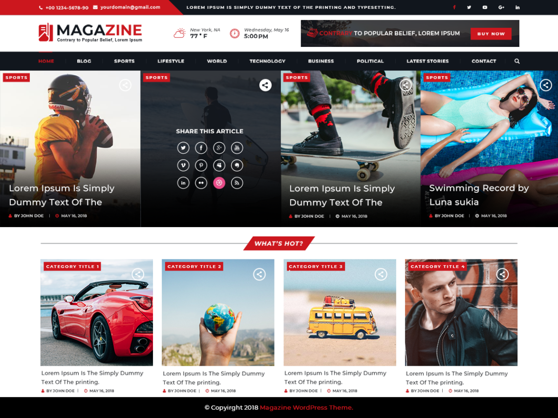 VW Magazine Pro WordPress Website Themes