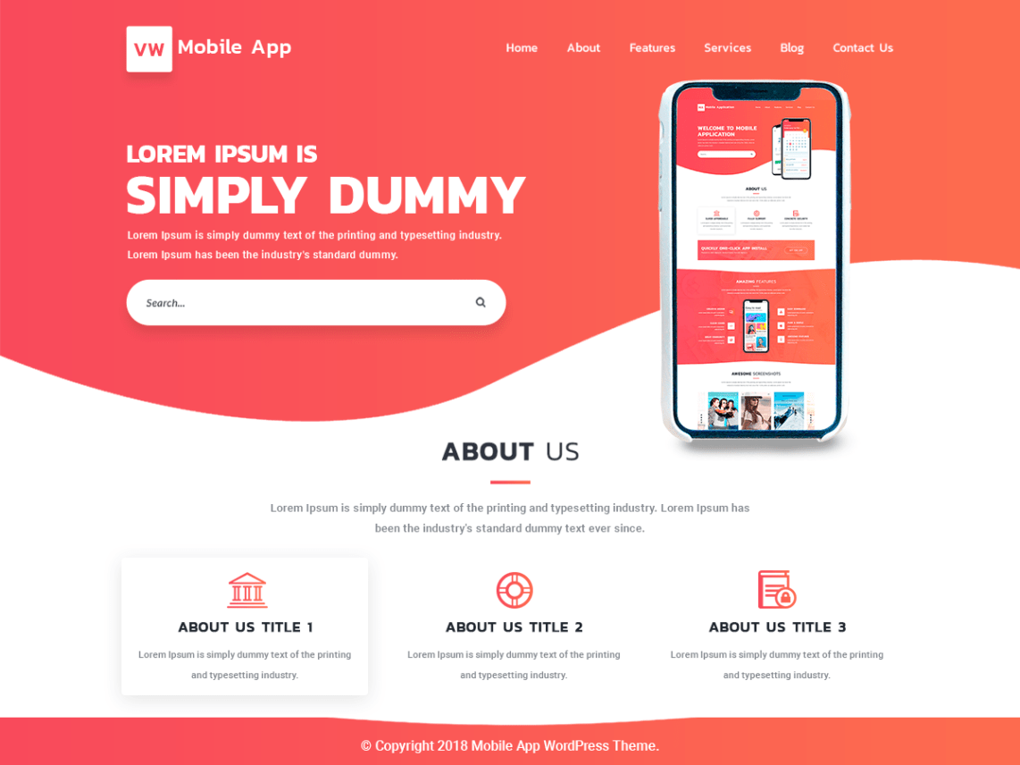 Top 20+ Mobile App WordPress Theme