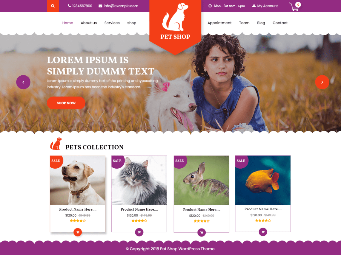 Top 20+ Ecommerce WordPress Theme For Pet Shop