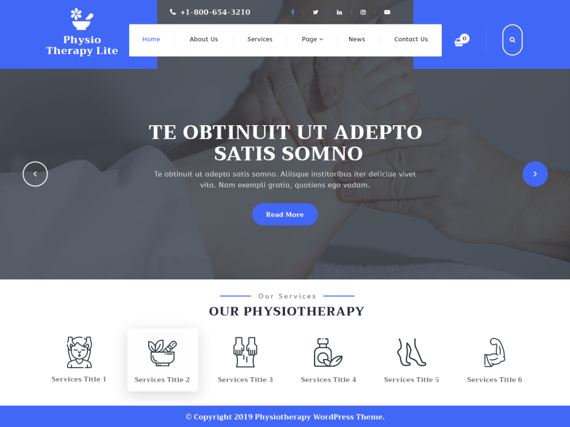 VW Physiotherapy Pro WordPress Website Themes