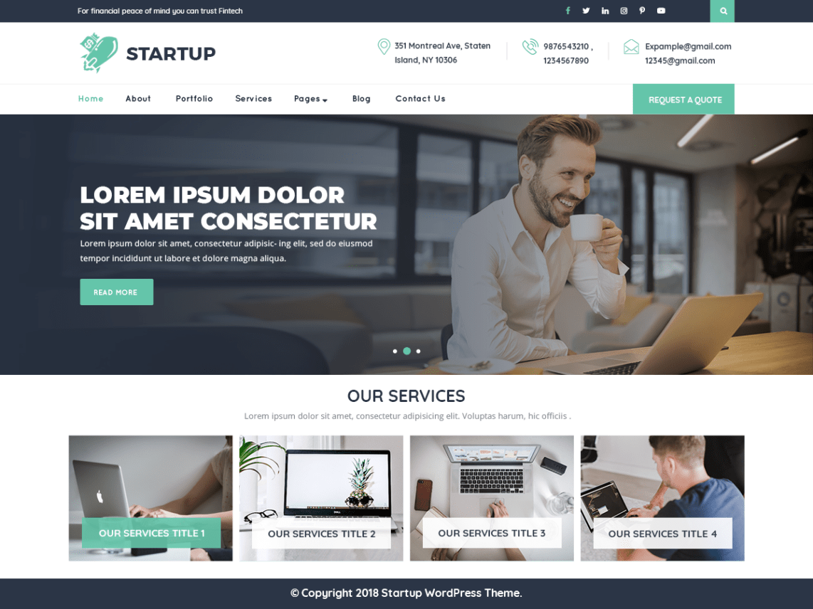 VW Startup Pro WordPress Website Themes