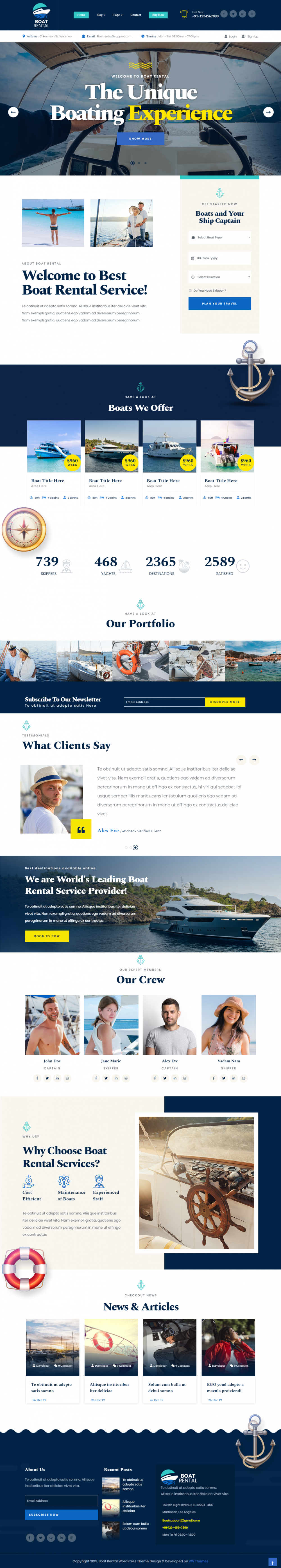 Boat Rental WordPress Theme