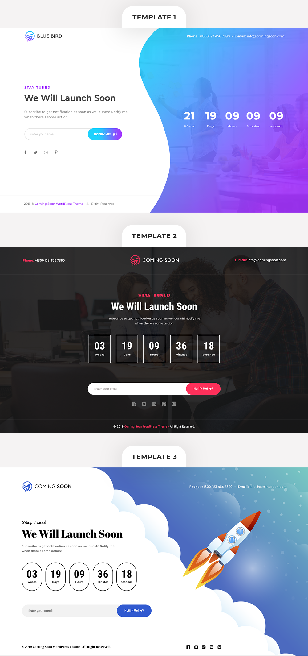 Coming Soon WordPress Theme