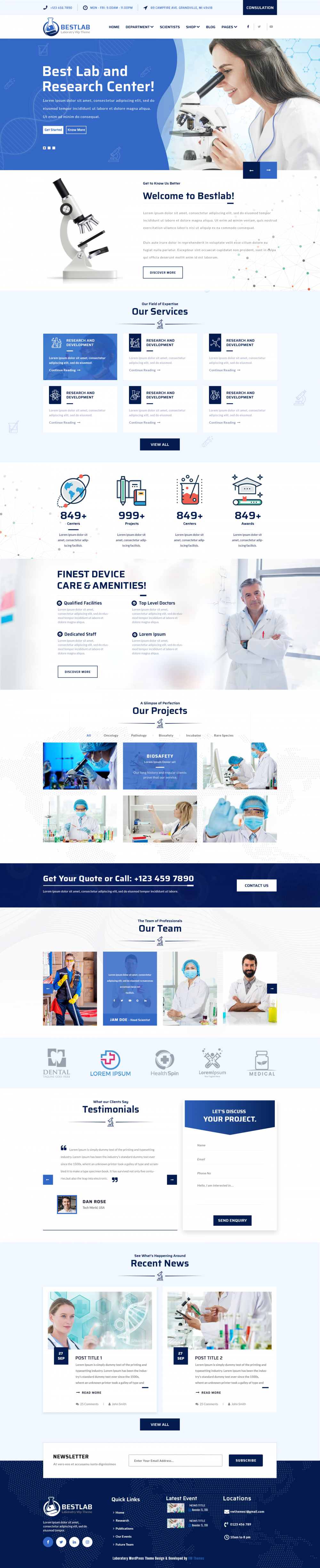 Laboratory WordPress Theme